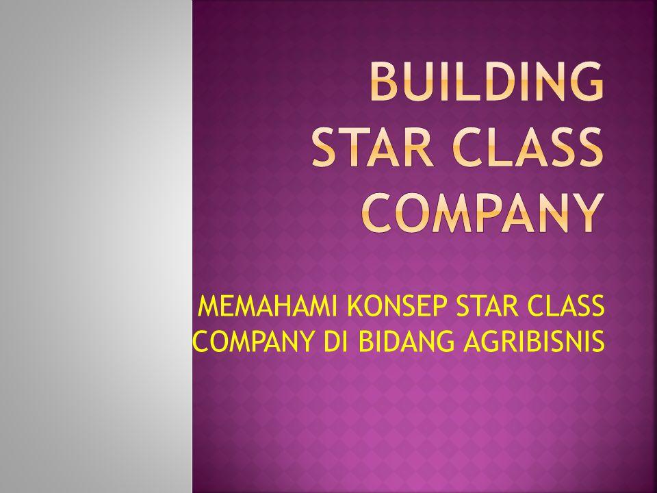 MEMAHAMI KONSEP STAR CLASS COMPANY DI BIDANG AGRIBISNIS