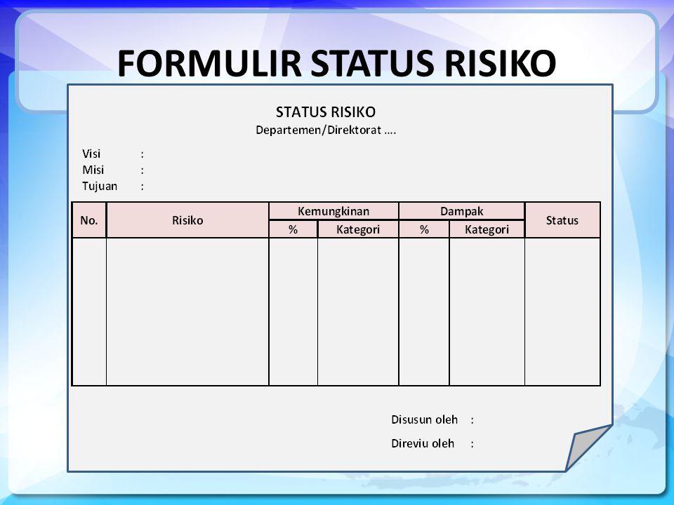 FORMULIR STATUS RISIKO