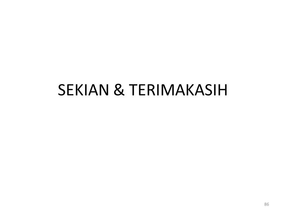 SEKIAN & TERIMAKASIH 86