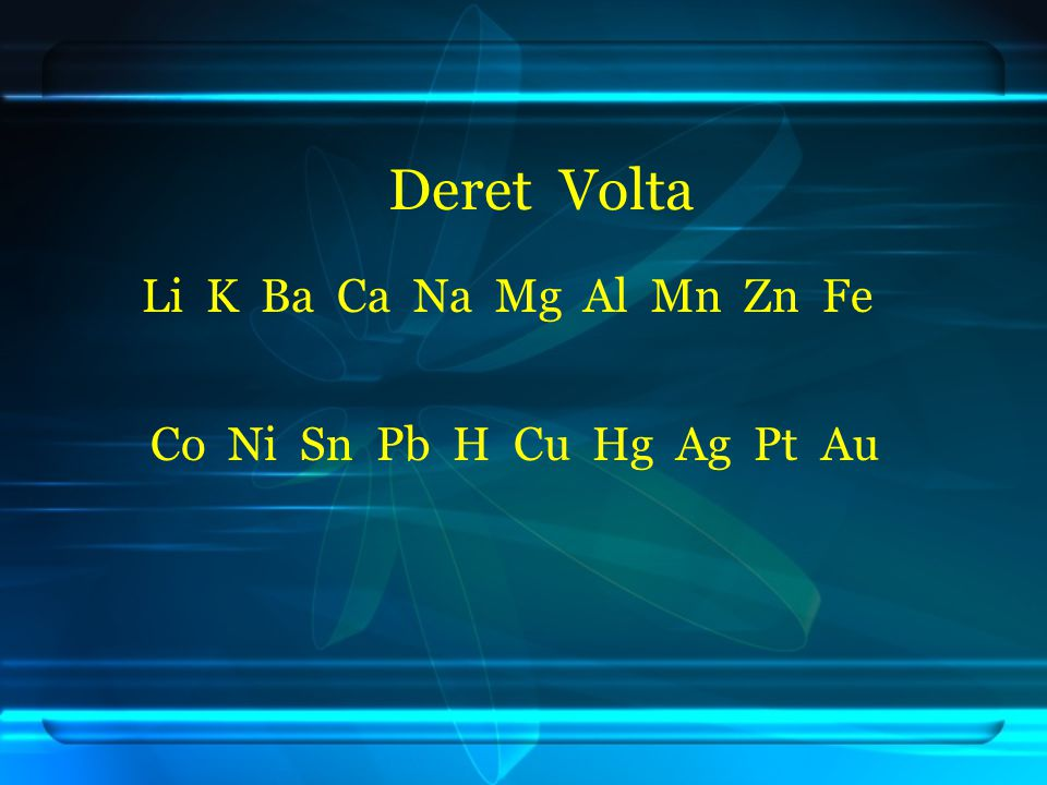 Bentuk larutan dengan elektroda aktif a.Jika golongan utama, yang direduksi H 2 O b.