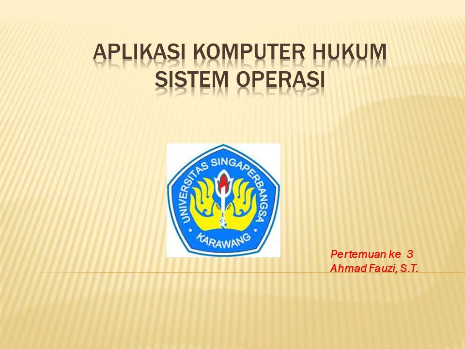 1.Apa peranan Sistem Operasi dalam penggunaan Komputer .