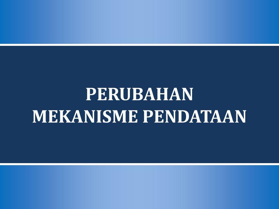PERUBAHAN MEKANISME PENDATAAN