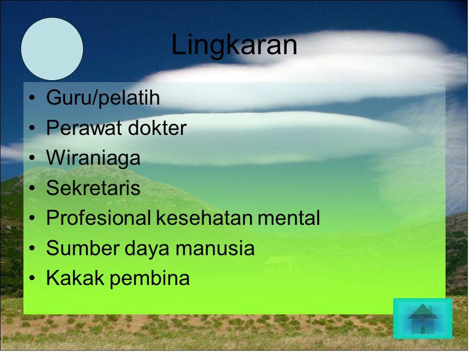 Lingkaran Guru/pelatih Perawat dokter Wiraniaga Sekretaris Profesional kesehatan mental Sumber daya manusia Kakak pembina