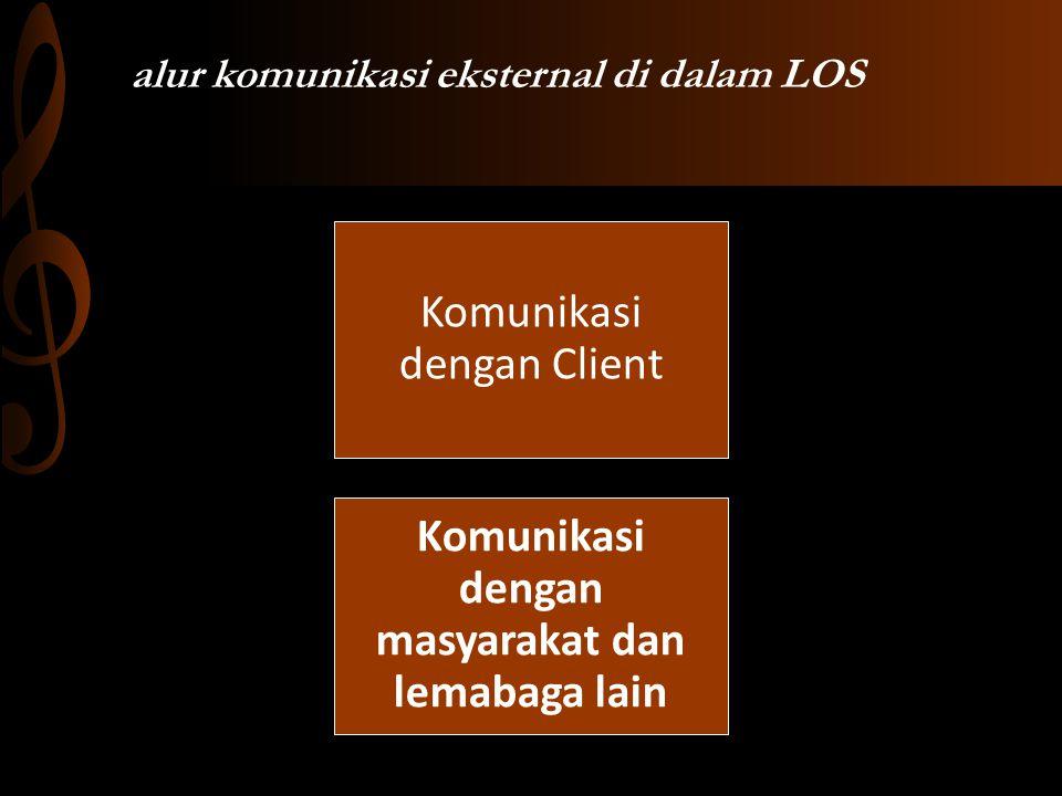 alur komunikasi eksternal di dalam LOS Komunikasi dengan Client Komunikasi dengan masyarakat dan lemabaga lain