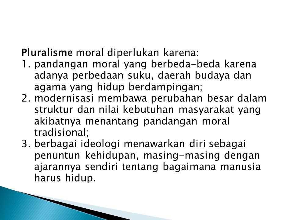 1.4 Etika dan Ajaran Moral Etika perlu dibedakan dari moral. Ajaran moral memuat pandangan tentang nilai dan norma moral yang terdapat pada sekelompok