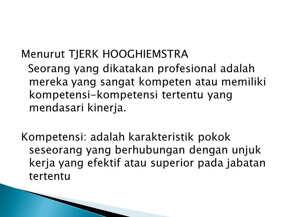 Ciri-ciri Profesionalisme: 1. Profesionalisme menghendaki sifat mengejar kesempurnaan hasil sehingga dituntut selalu mencari peningkatan mutu 2. Memer