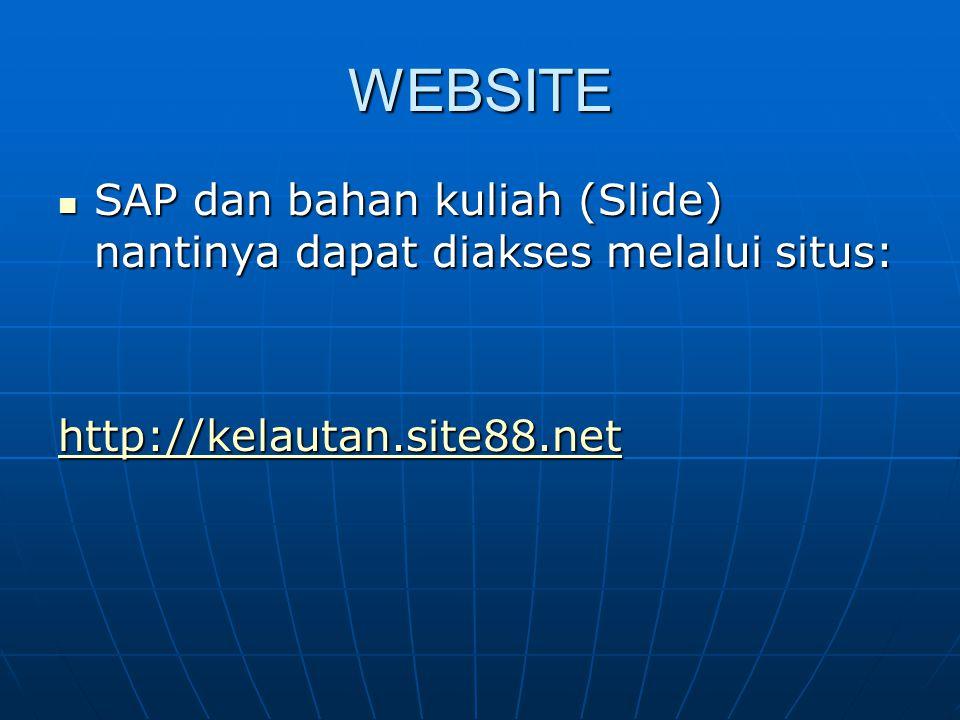 WEBSITE SAP dan bahan kuliah (Slide) nantinya dapat diakses melalui situs: SAP dan bahan kuliah (Slide) nantinya dapat diakses melalui situs: http://k