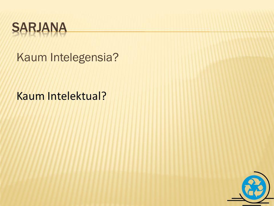 Kaum Intelegensia Kaum Intelektual