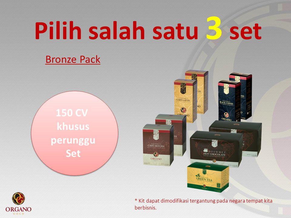 Pilih salah satu 3 set Bronze Pack 150 CV khusus perunggu Set * Kit dapat dimodifikasi tergantung pada negara tempat kita berbisnis.