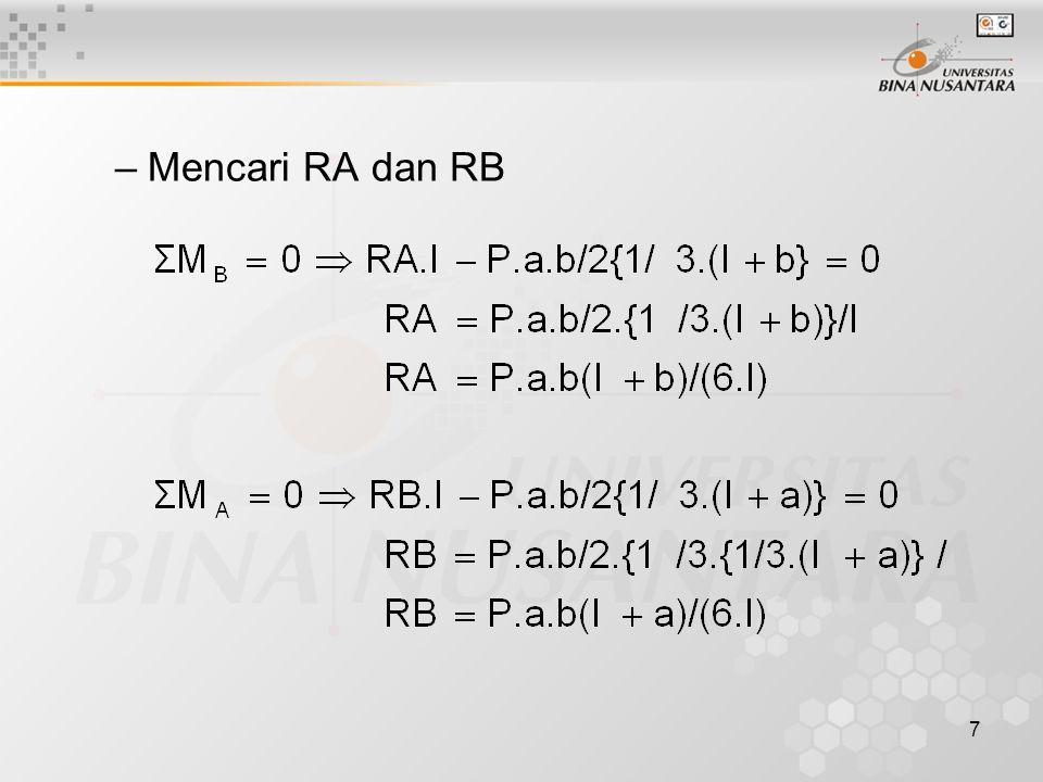 7 –Mencari RA dan RB