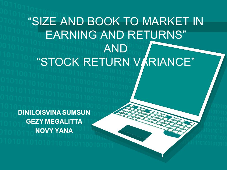 """SIZE AND BOOK TO MARKET IN EARNING AND RETURNS"" AND ""STOCK RETURN VARIANCE"" DINILOISVINA SUMSUN GEZY MEGALITTA NOVY YANA"