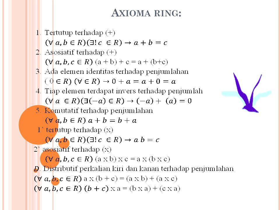 2. Karena syarat (1) dan (2) dipenuhi oleh I + J maka I + J adalah ideal kiri dari ring R