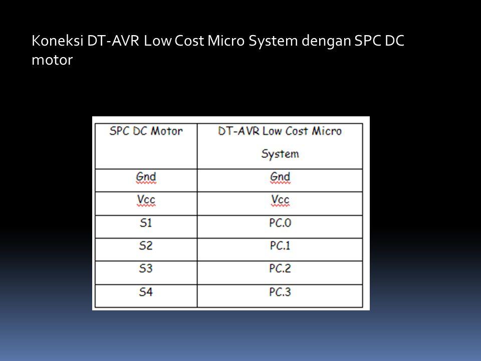 Koneksi DT-AVR Low Cost Micro System dengan SPC DC motor