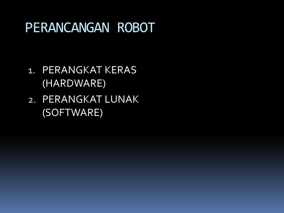 1. PERANGKAT KERAS (HARDWARE) 2. PERANGKAT LUNAK (SOFTWARE) PERANCANGAN ROBOT