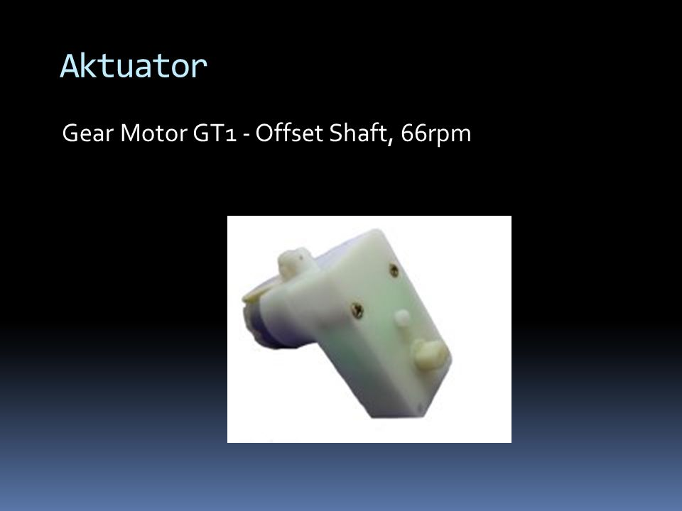 Gear Motor GT1 - Offset Shaft, 66rpm Aktuator