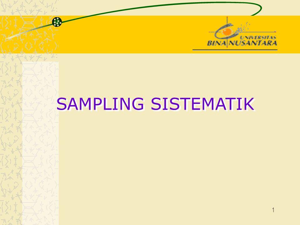 1 SAMPLING SISTEMATIK