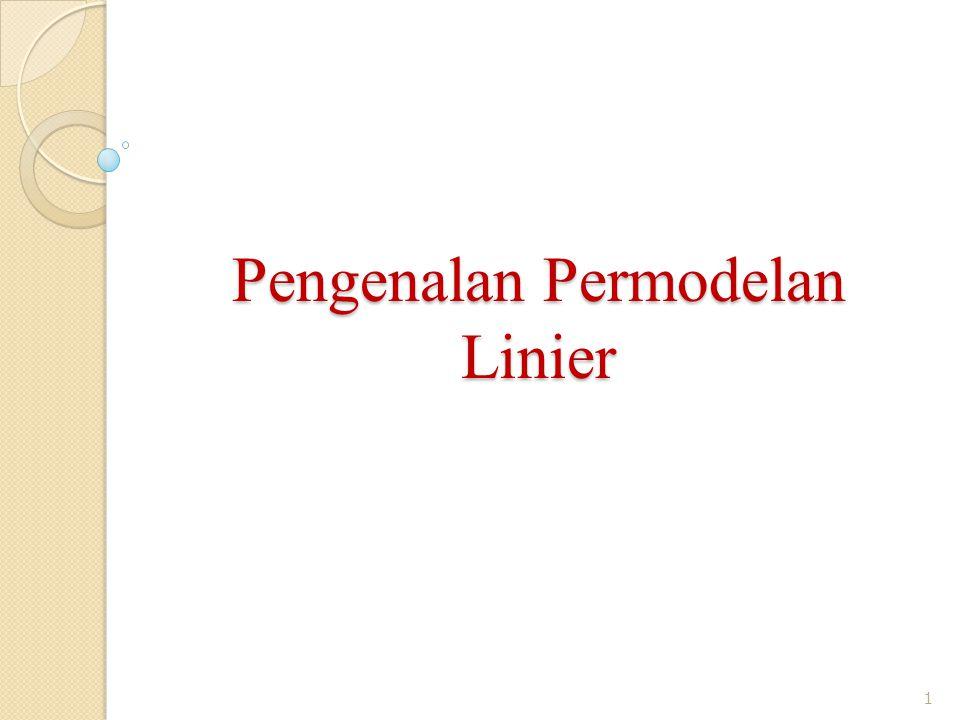 Pengenalan Permodelan Linier 1