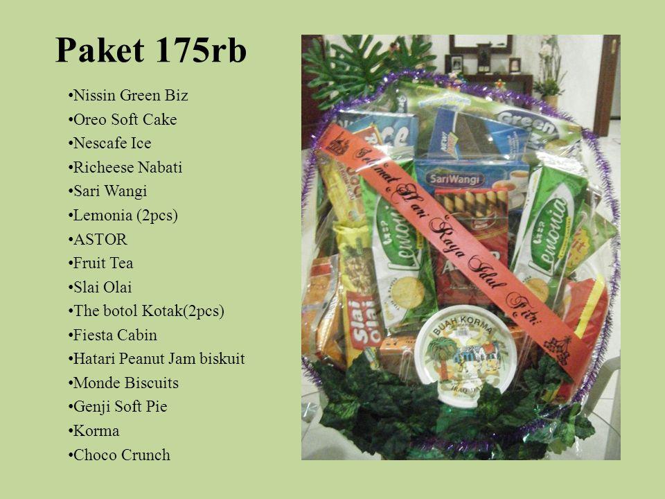 Paket 175rb Nissin Green Biz Oreo Soft Cake Nescafe Ice Richeese Nabati Sari Wangi Lemonia (2pcs) ASTOR Fruit Tea Slai Olai The botol Kotak(2pcs) Fies