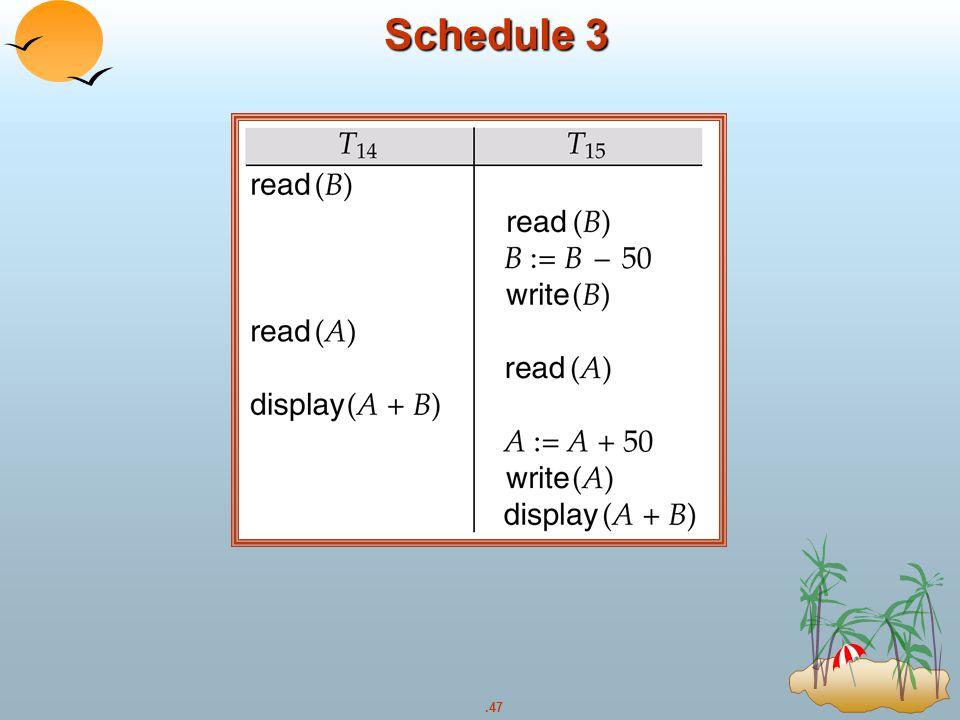.47 Schedule 3