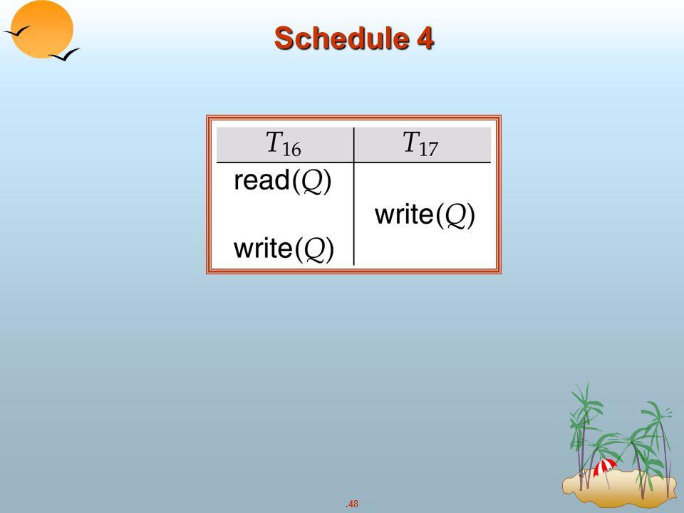 .48 Schedule 4