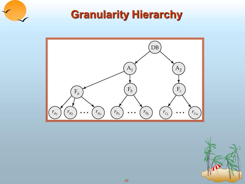.50 Granularity Hierarchy