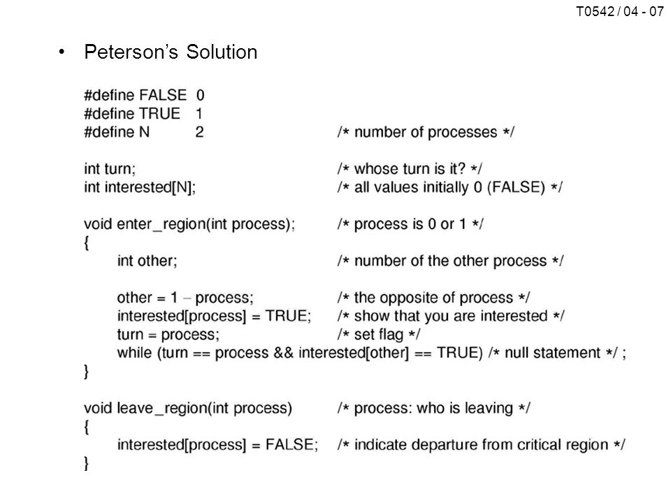 T0542 / 04 - 07 Peterson's Solution