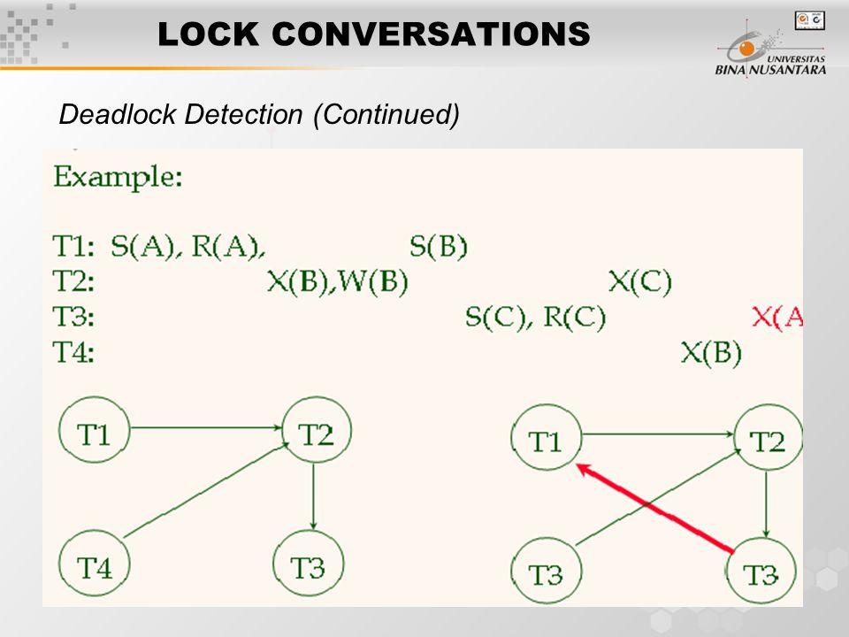 7 LOCK CONVERSATIONS Deadlock Detection (Continued)