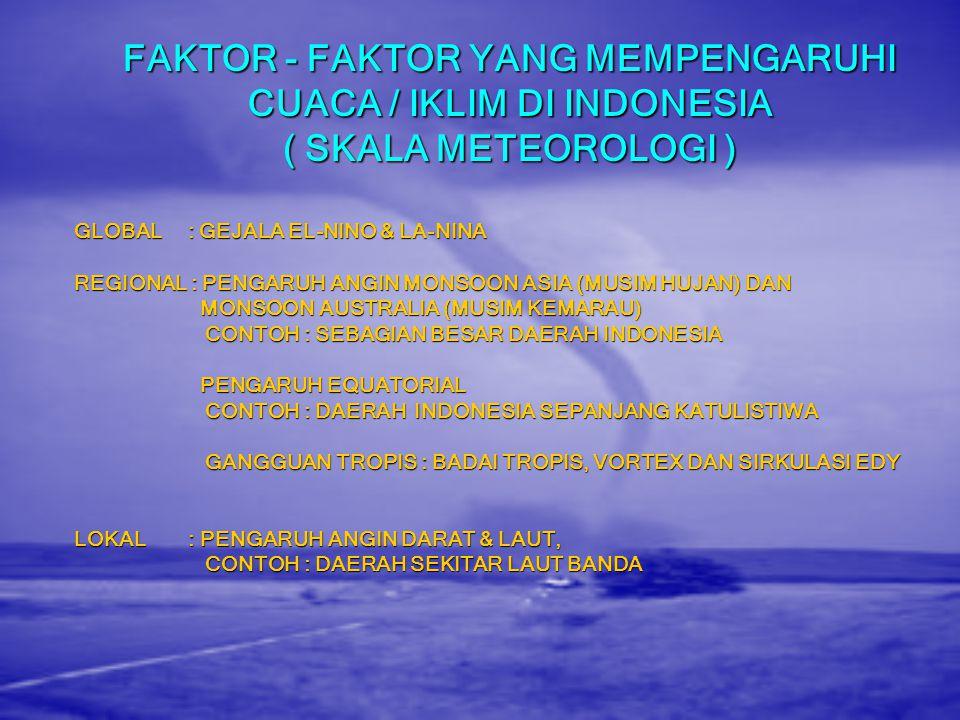 MEMAHAMI CUACA DAN IKLIM Cuaca Cuaca merupakan keadaan / fenomena fisik dari atmosfer di suatu tempat dan pada waktu tertentu. Berskala jangka pendek.