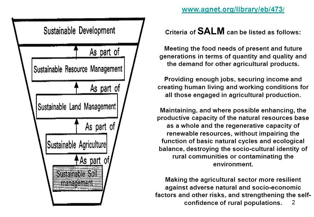 SUSTAINABLE AGRIC.SYSTEM: SOIL EROSION & LAND DEGRADATION 1.