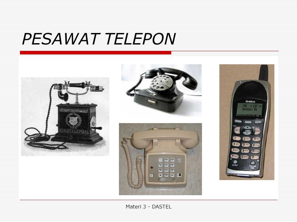 Materi 3 - DASTEL Fasilitas Sentral (STO) : a.Kapasitas, SST yg dapat diakomodasikan.