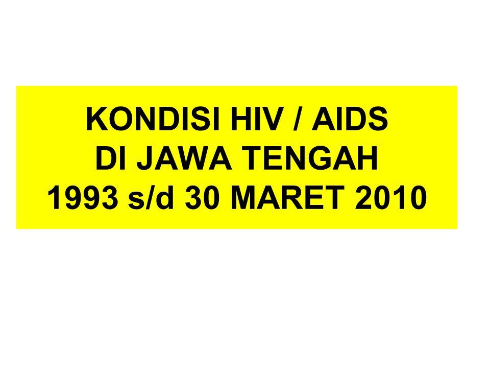 KONDISI HIV / AIDS DI JAWA TENGAH 1993 s/d 30 MARET 2010