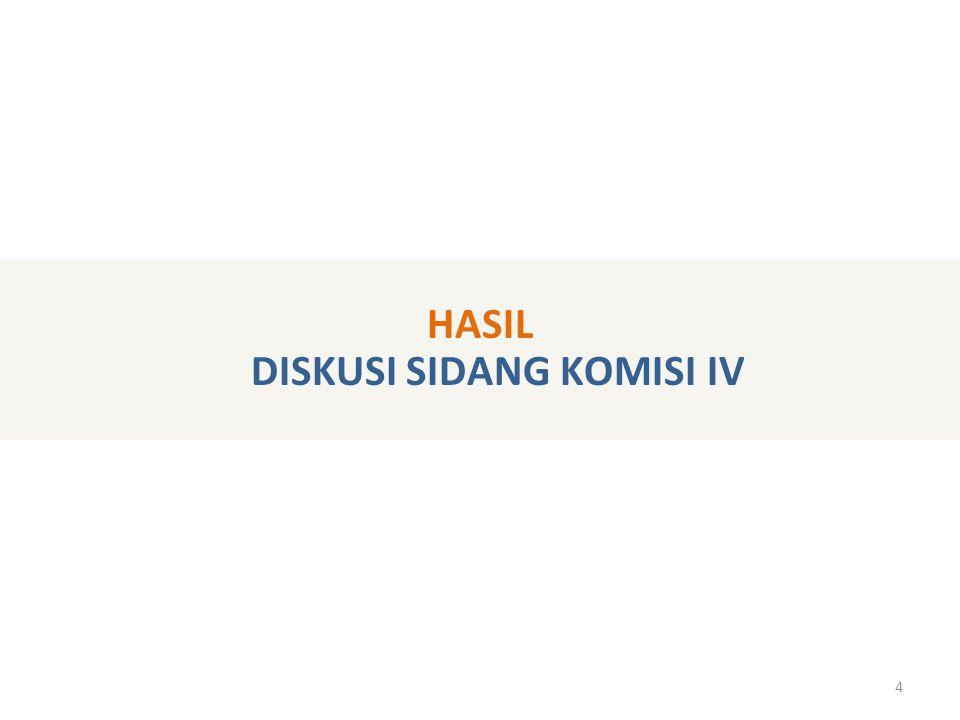 4 HASIL DISKUSI SIDANG KOMISI IV