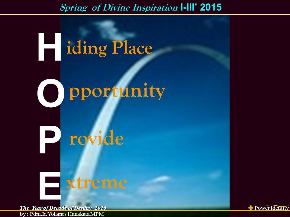 H iding Place Ibr 6:19 Pengharapan itu adalah sauh yang kuat dan aman bagi jiwa kita, yang telah dilabuhkan sampai ke belakang tabir Kis 3:5 Lalu orang itu menatap mereka dengan harapan akan mendapat sesuatu dari mereka.