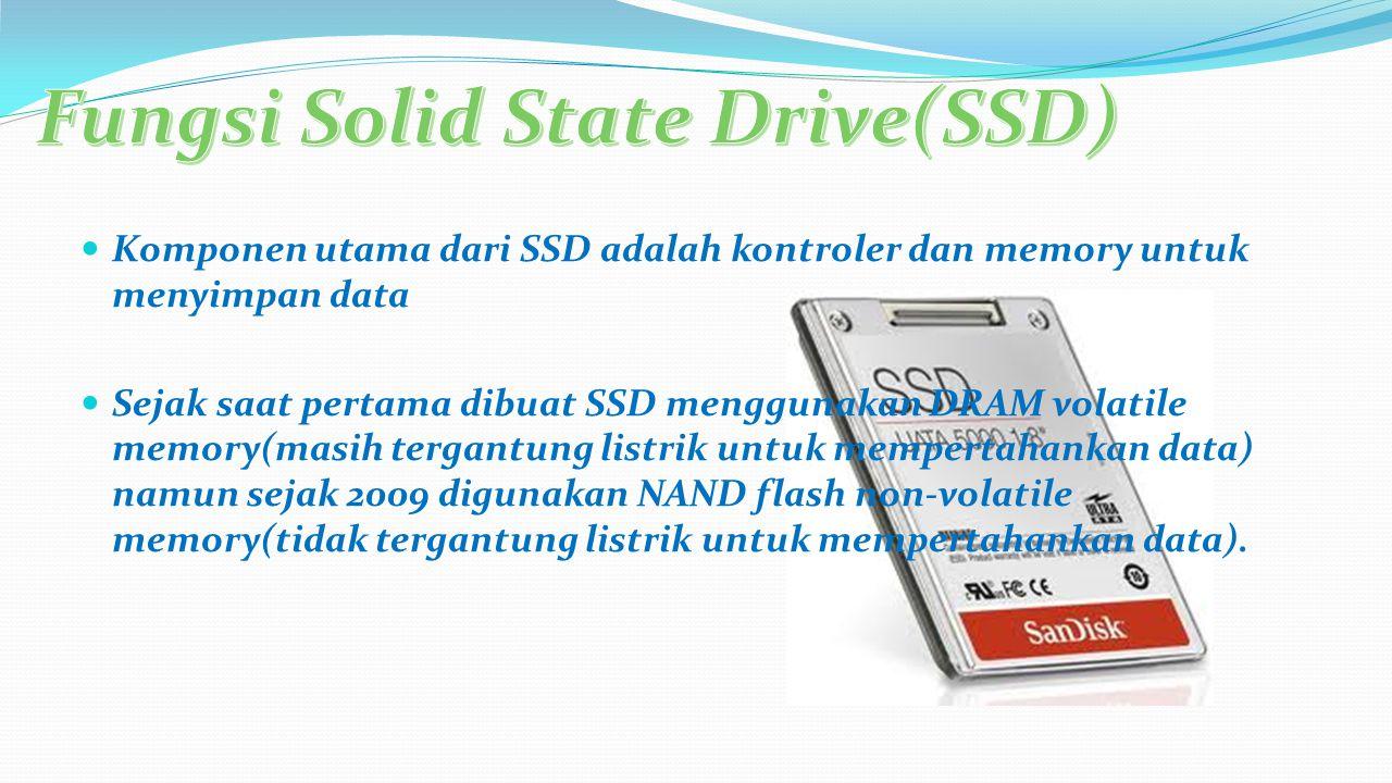 Kontroler Memory A.Flash memory-based B. DRAM-based C.