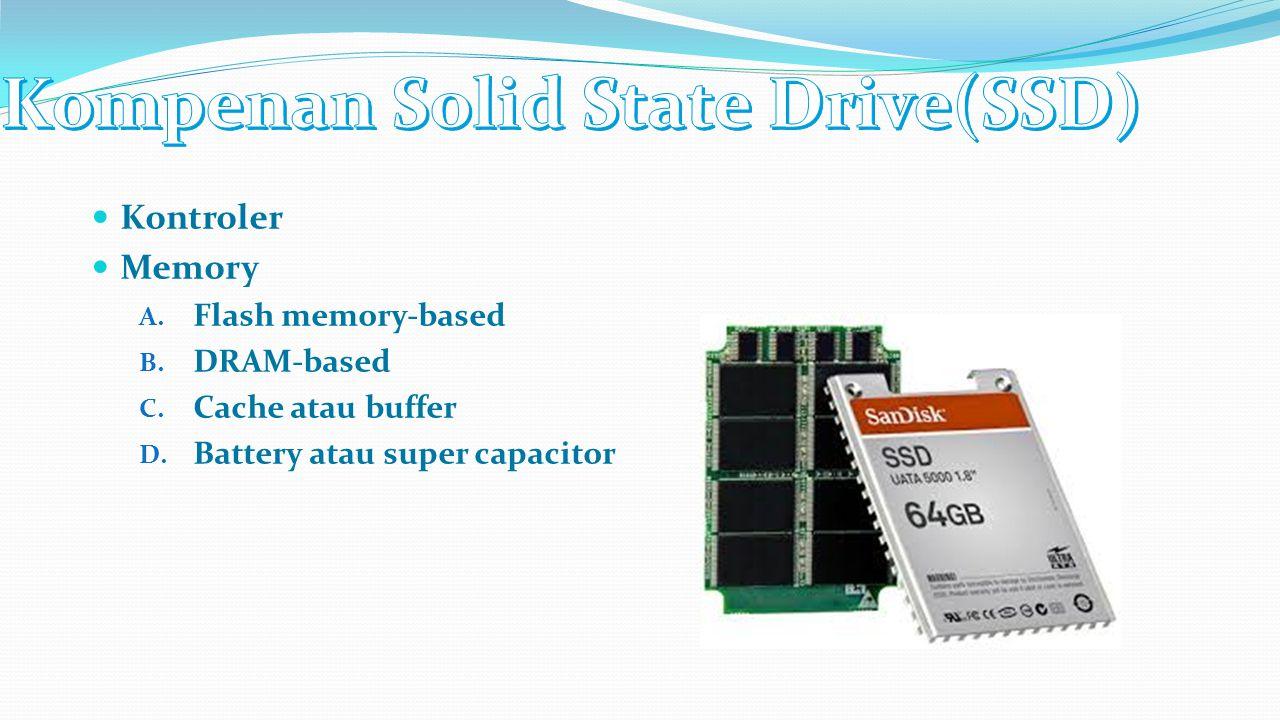 Kontroler yang terdapar pada SSD berfungsi untuk menjembatani komponen memory NAND pada SSD dengan komputer.