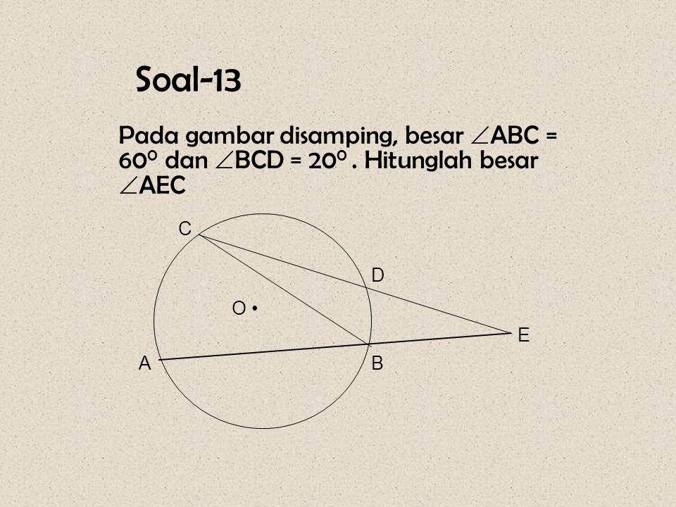 Pembahasan : PQ x QS = ( PQ x SR ) + ( PS x QR) 12 x 13 = ( 12 x 9 ) + ( PS x 6 ) 156 = 108 + 6 PS 6PS = 156 – 108 = 48 PS = 48 : 6 = 8 cm.
