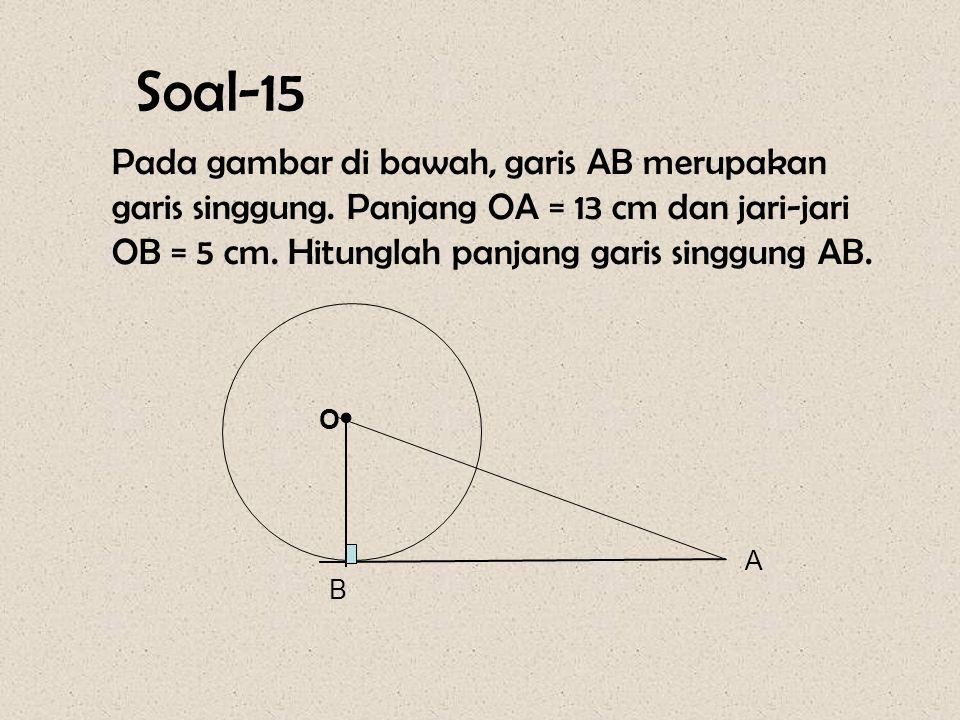 Pembahasan :  POR = 100 0  QOS = 30 0  PTR = ½ (  POR -  QOS) = ½ ( 100 0 - 30 0 ) = 35 0 Jadi, besar  PTR = 35 0