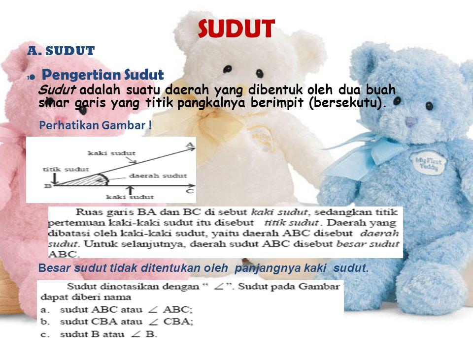 SUDUT A.SUDUT 1.