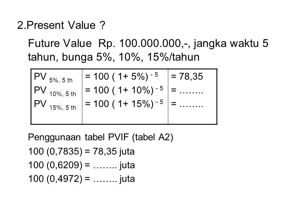 2.Present Value .Future Value Rp.