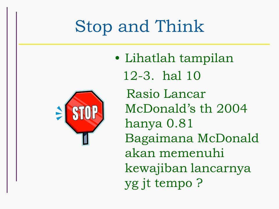 Stop and Think Lihatlah tampilan 12-3.