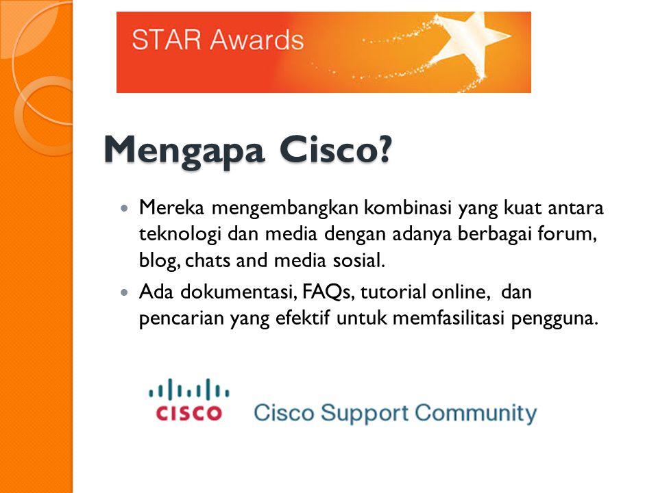 Mengapa Cisco.