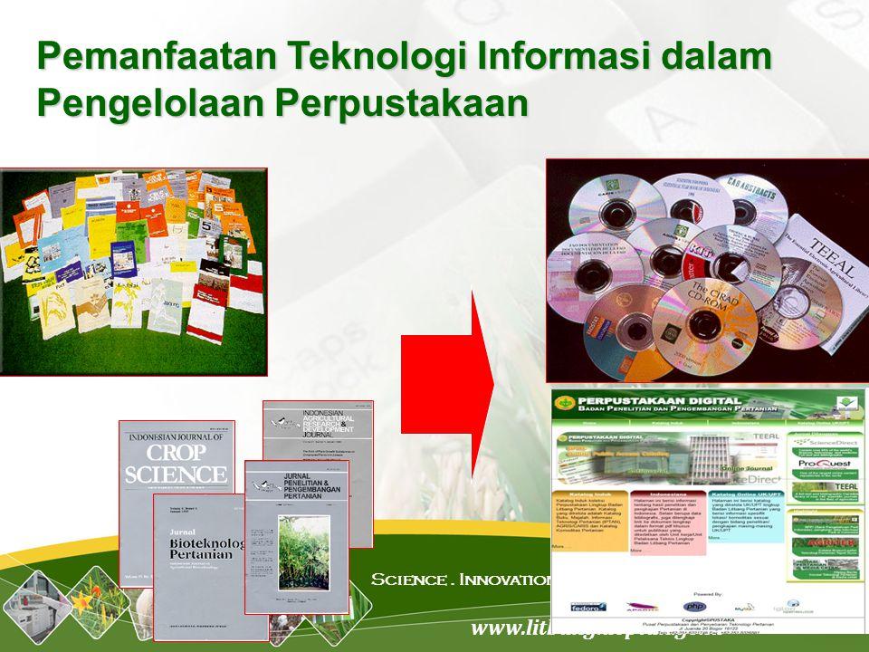 www.litbang.deptan.go.id Science. Innovation. Network Pemanfaatan Teknologi Informasi dalam Pengelolaan Perpustakaan