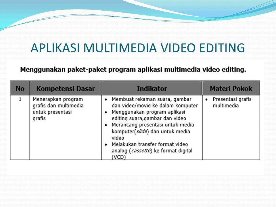 ULEAD VIDEO STUDIO Ulead Video Studio merupakan video editor yang mudah digunakan dan mempunyai fitur-fitur yang lengkap untuk pembuatan video.