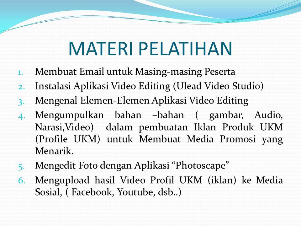 MATERI PELATIHAN 1.Membuat Email untuk Masing-masing Peserta 2.