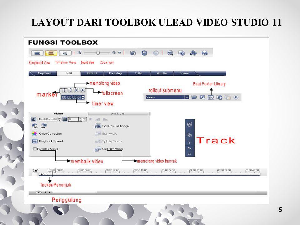5 LAYOUT DARI TOOLBOK ULEAD VIDEO STUDIO 11