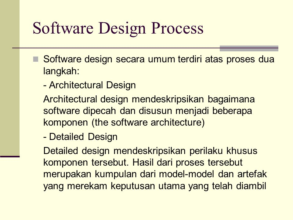 Architectural Style 2.Distributed systems contoh : client server, threetiers, broker 3.