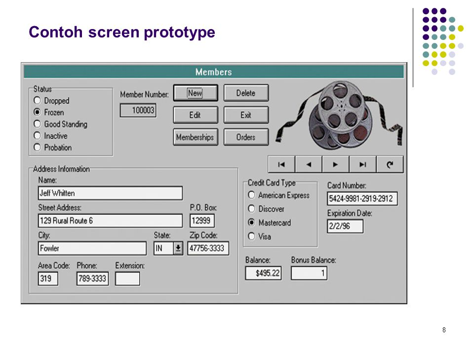 8 Contoh screen prototype