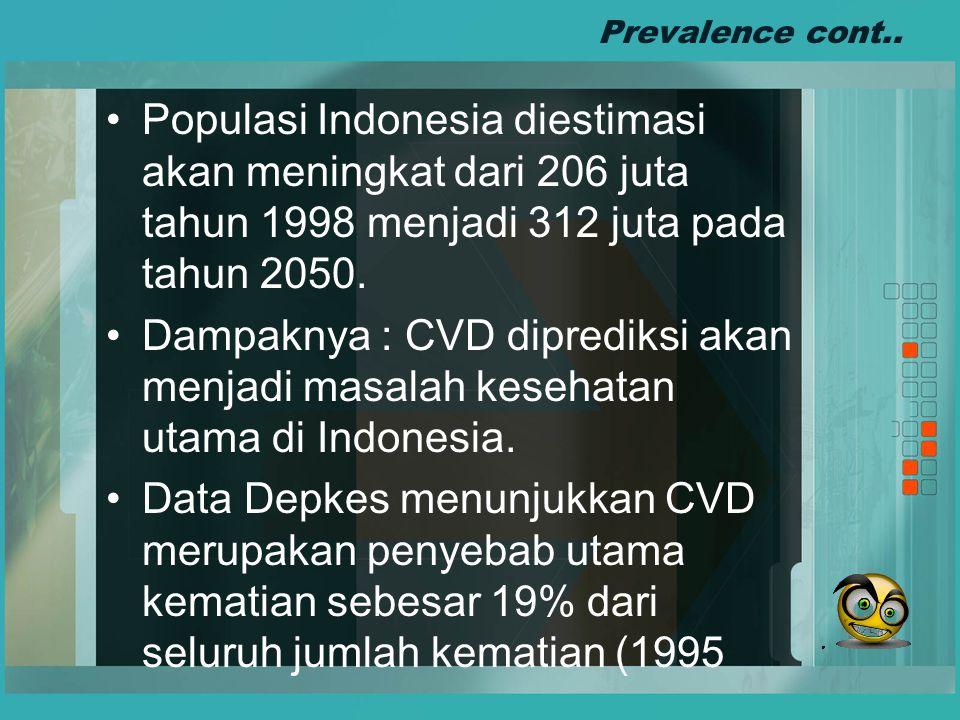 Prevalence cont..Informasi tentang prevalensi PTM cukup sulit diperoleh.