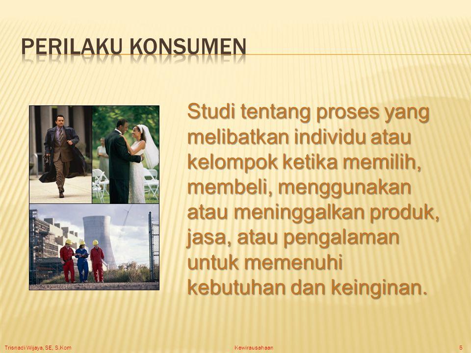 Trisnadi Wijaya, SE, S.Kom Kewirausahaan6 Psikologi Konsumen Keputusan Pembelian Konsumen
