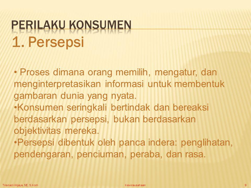 Trisnadi Wijaya, SE, S.Kom Kewirausahaan20 Membagi pasar menjadi kelompok- kelompok kecil dengan kebutuhan, karakteristik, atau perilaku berbeda yang mungkin memerlukan produk atau bauran pemasaran tersendiri.